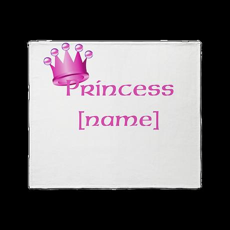 Personlized Princess Throw Blanket