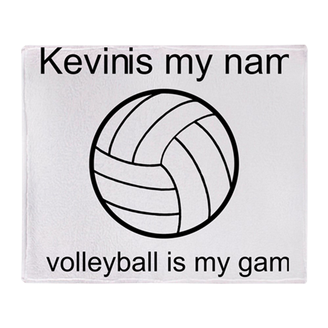 Volleyball Is My Game Throw Blanket