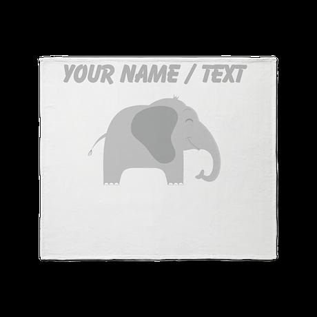 Custom Baby Elephant Throw Blanket