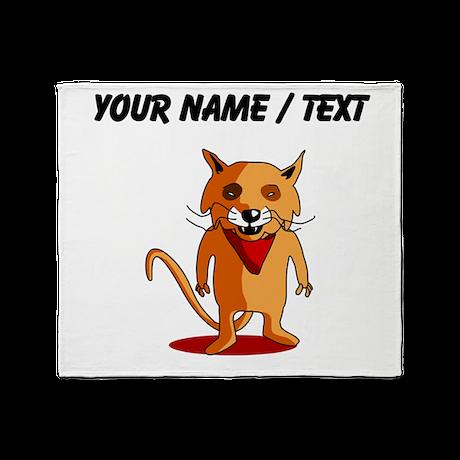 Custom Red Fox Cartoon Throw Blanket