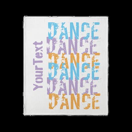 DANCE Optional Text Throw Blanket