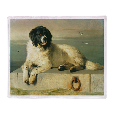 Landseer's Newfoundland Throw Blanket