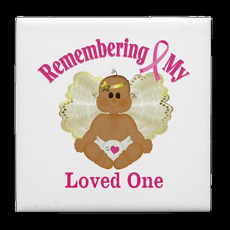 Remembrance Angel Tile Coaster