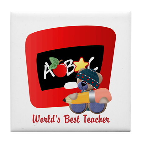 Teacher TeddyBear Tile Coaster