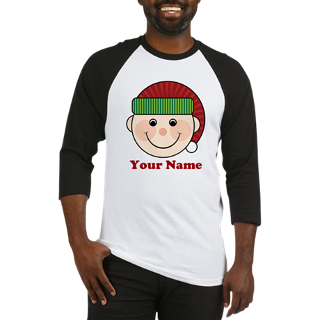 Personalized Christmas Elf Baseball Jersey