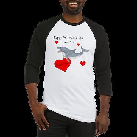 Personalized Dolphin Valentine Baseball Jersey