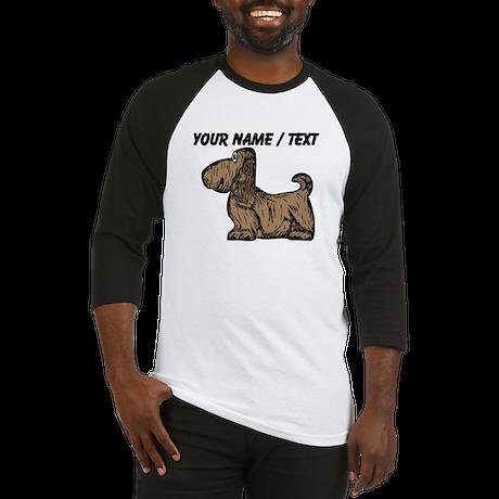 Custom Brown Dog Baseball Jersey