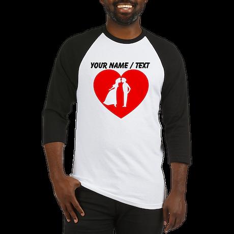 Custom Couple In Heart Baseball Jersey