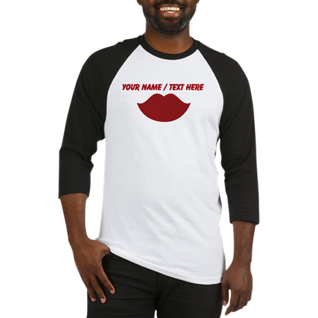 Personalized Red Lips Baseball Jersey