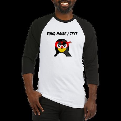 Custom Superhero Penguin Baseball Jersey
