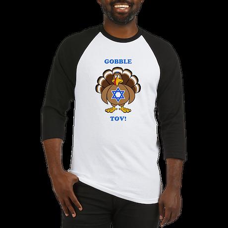 PERSONALIZE Thanksgiving Hanukkah Baseball Jersey