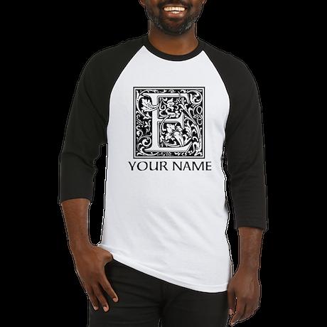 Custom Decorative Letter E Baseball Jersey