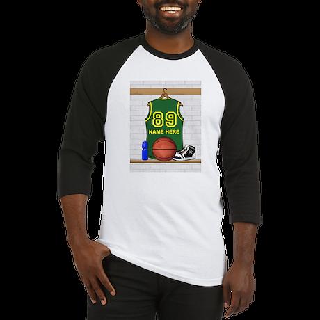 Personalized Basketball Green Baseball Jersey
