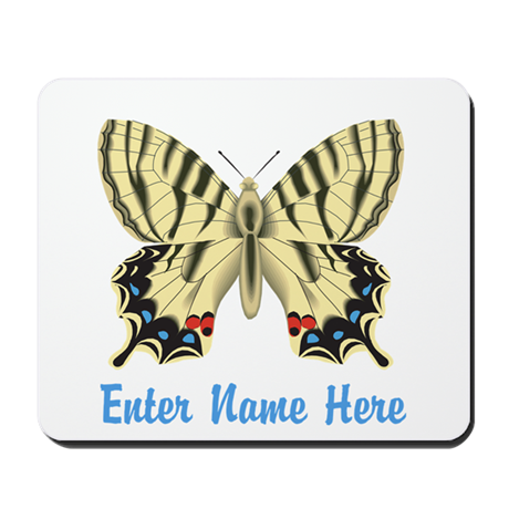 Personalized Butterfly Mousepad