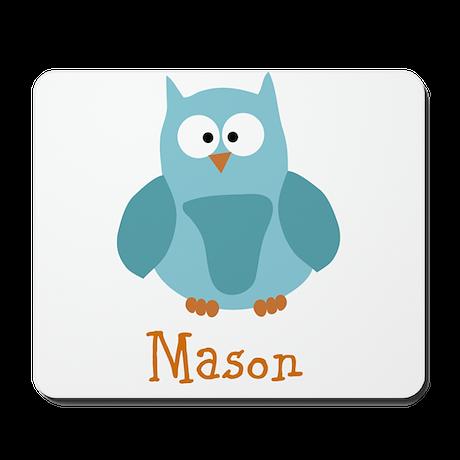 Custom Name Owl Mousepad