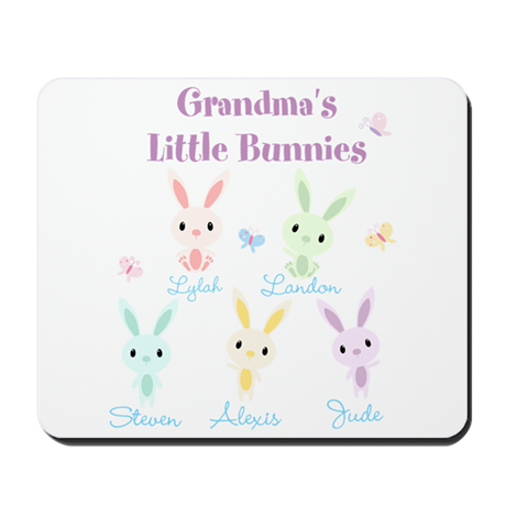 Grandmas little bunnies custom Mousepad