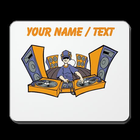 Custom Cartoon DJ Booth Mousepad