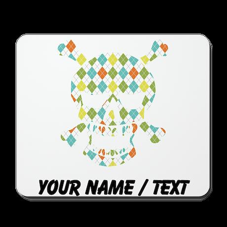 Custom Skull Colorful Diamonds Mousepad