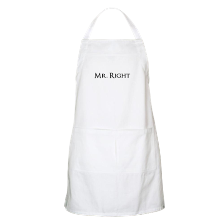 Mr Right part of his and hers set Apron