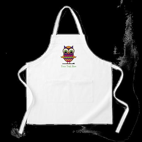 Customizable Whimsical Owl Apron