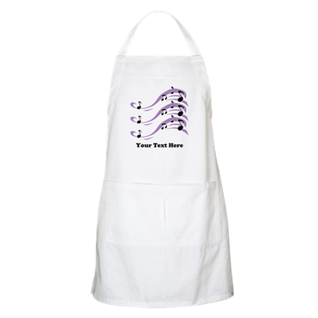 Musical Notes and Text. Apron