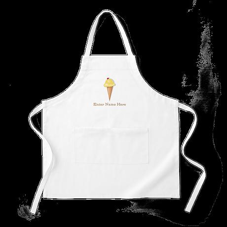 Personalized Ice Cream Cone Apron