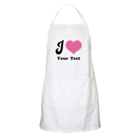Personalized Love Heart Apron