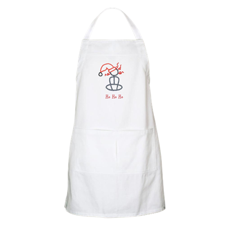 Yoga Christmas Girl Apron