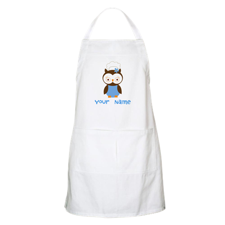 Personalized Owl Chef Apron