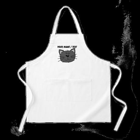Custom Grey Cat Face Apron