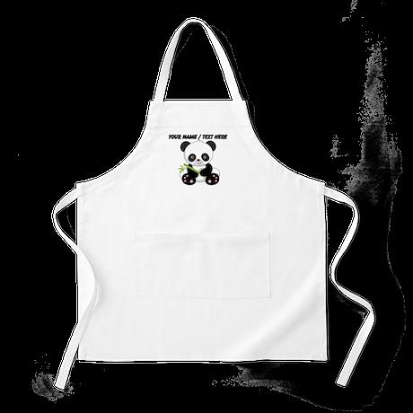Custom Panda With Bamboo Apron