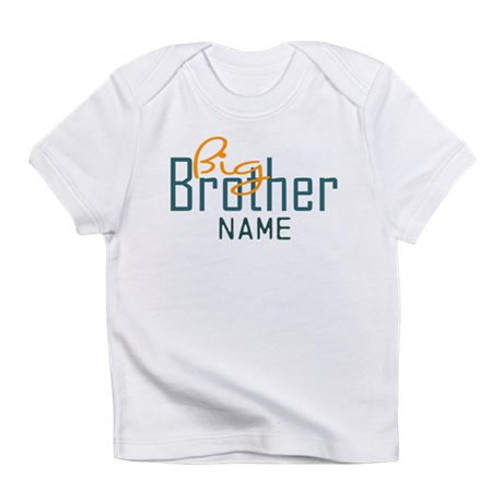 Add name big brother print infant t shirt by inkshoppe1 for Print name on shirt