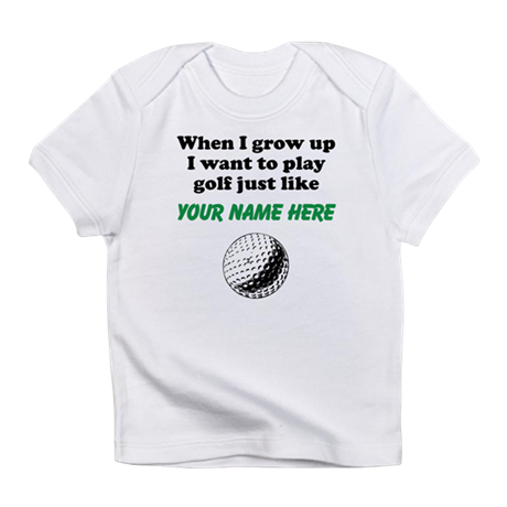 Play golf just like custom infant t shirt by sportsbabies for Personalised golf shirts uk