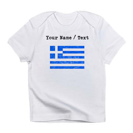 Custom Distressed Greece Flag Infant T Shirt By Worldwideflags