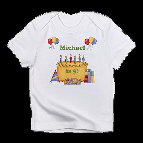 Boys Personalized Birthday Infant T-Shirt