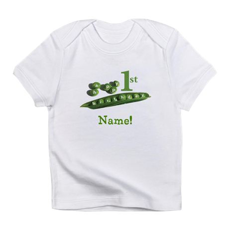 Personalized Pea Pod 1st Birthday Infant T-Shirt