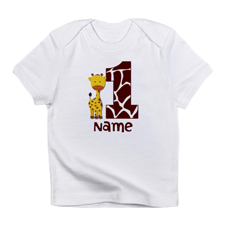 First Birthday Giraffe Infant T-Shirt