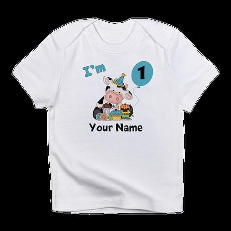 First Birthday Boy Cow Infant T-Shirt
