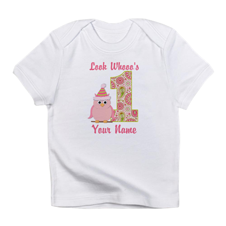First Birthday Owl Infant T-Shirt