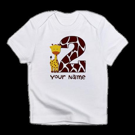2nd Birthday Giraffe Infant T-Shirt