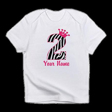 2nd Birthday Zebra Print Infant T-Shirt