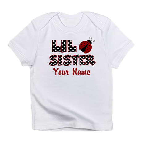 Little Sister Ladybug Infant T-Shirt