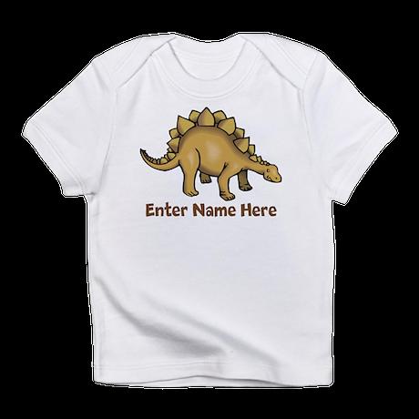 Personalized Stegosaurus Infant T-Shirt