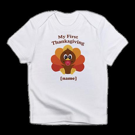 Custom First Thanksgiving Infant T-Shirt