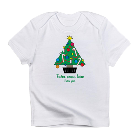 Personalized Christmas Tree Infant T-Shirt