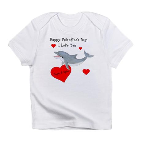 Personalized Dolphin Valentine Infant T-Shirt