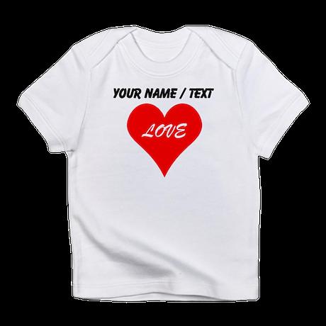 Custom Love Heart Infant T-Shirt