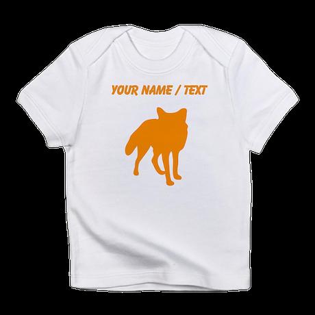 Custom Orange Fox Silhouette Infant T-Shirt