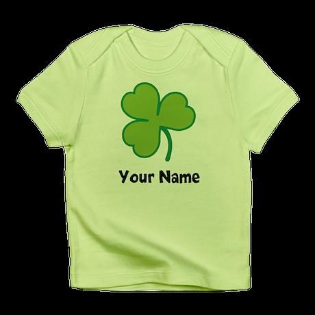 Personalized Irish Shamrock Infant T-Shirt