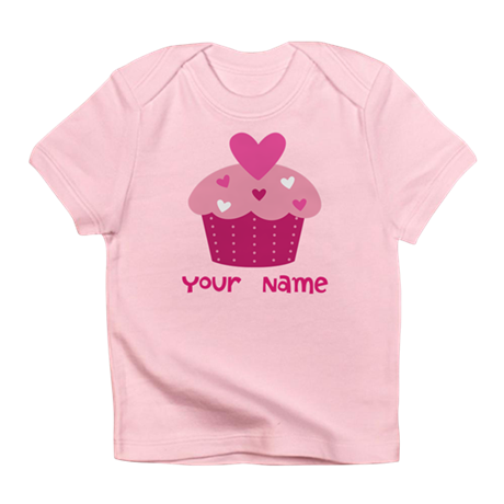 Personalized Cupcake Infant T-Shirt